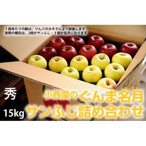 他の写真1: サンふじ・ぐんま名月詰め合わせ 秀 15kg