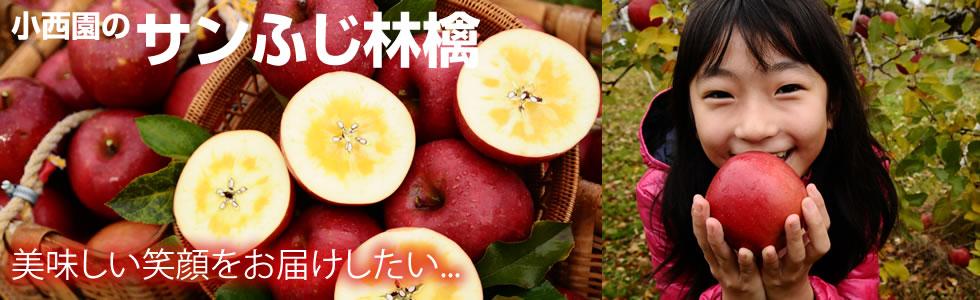 美味しい笑顔をお届けしたい... 小西園のサンふじ林檎